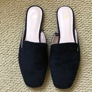 H&M faux suede slide on mule/loafer size 9
